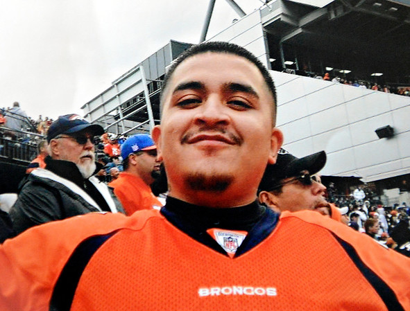 "Anthony Cruz Sandoval-Palma is pictured at a Denver Broncos game.  Adolph Lopez was the driver involved in a Feb. 25, 2012 car crash near Hygiene that left two men dead, including Anthony Cruz Sandoval-Palma. Lopez pleaded guilty to one count of DUI-related vehicular homicide in December and was sentenced Monday to six years in community corrections. The family of Sandoval-Palma believes the sentence was too lenient. For more photos and a video, visit  <a href=""http://www.TimesCall.com"">http://www.TimesCall.com</a>. (Greg Lindstrom/Times-Call)"