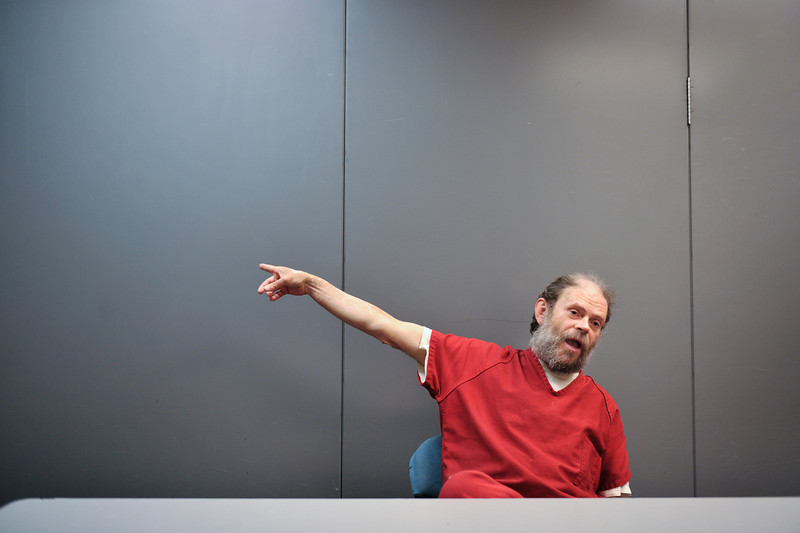 "Lester ""Steve"" Dostin Monday, April 9, 2012 at the Boulder County Jail.<br /> (Matthew Jonas/Times-Call)"
