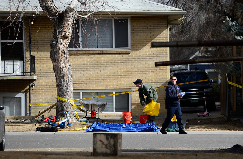 20130218_DEATH_INVEST_1905.jpg Longmont Police investigate the death of a six year old child, Monday, Feb. 18, 2013, at 706 Darby Court.<br /> (Matthew Jonas/Times-Call)