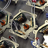 Tube sockets wait to be finished at Q.S.C. Systems, where Alpha Amplifiers are assembled, Wednesday, Jan. 16, 2013.  (Lewis Geyer/Times-Call)