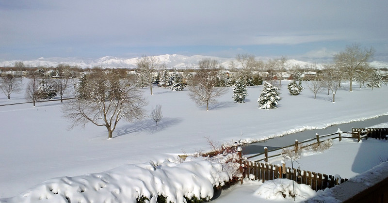 Twin Peaks golf course after the April snow storm. (Photo submitted by Jeff Gauthier)