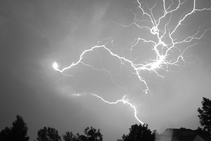 Alexis Eliopulos captured this June lightning storm using a camera on a tripod. Alexis is a junior at Niwot High School. (Photo submitted by George Eliopulos)
