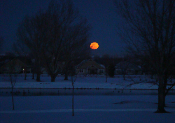 Moonrise over Fox Hill Golf Course Monday Feb. 25. (Photo submitted by JJ Linton)