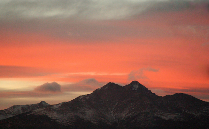 The Twin Peaks captured from the Jim Hamm Nature Area Tuesday, Feb. 5th. (Photo submitted by Laurie Ballinger)