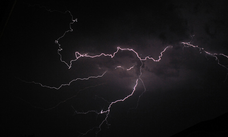 A photo of lightning taken in southwest Longmont during the thunderstorm Friday night, June 28, 2013. (Photo submitted by Corinne Oertel)