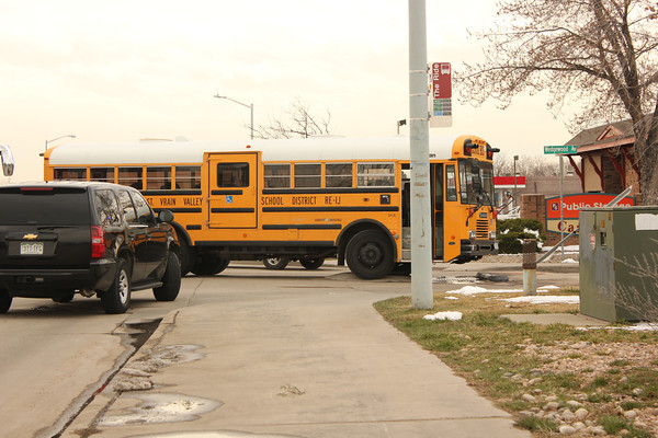 A bus with a mechanical problem at Hover Street and Wedgewood Avenue  Tuesday March 26th. (Photo submitted by Jim Hanson)