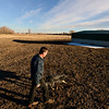 "Bill Berg and his dog Doc walk along his property while finishing his evening chores at Ridge Ranch in Hygiene on Thursday, Jan. 31, 2013. For more photos and a video visit  <a href=""http://www.dailycamera.com"">http://www.dailycamera.com</a>.<br /> (Greg Lindstrom/Times-Call)"