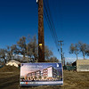 An artist's rendering is displayed at the groundbreaking for the Roosevelt Park Apartments Tuesday morning Nov. 13, 2012. (Lewis Geyer/Times-Call)