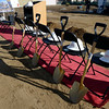 Shovels wait to be used for the groundbreaking at the Roosevelt Park Apartments Tuesday morning Nov. 13, 2012. (Lewis Geyer/Times-Call)