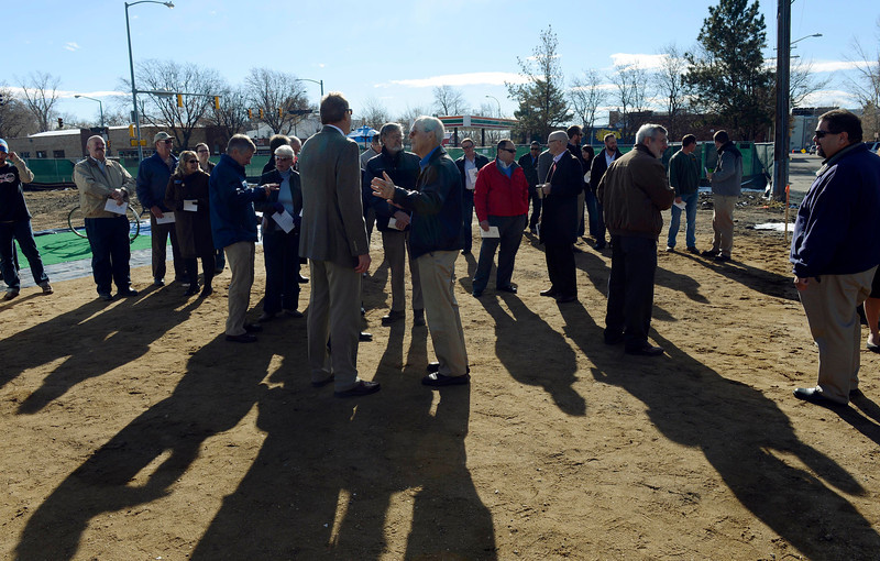 """The crowd gathers at the groundbreaking for the Roosevelt Park Apartments Tuesday morning Nov. 13, 2012. TO VIEW A VIDEO AND SLIDESHOW VISIT  <a href=""""http://WWW.TIMESCALL.COM"""">http://WWW.TIMESCALL.COM</a> (Lewis Geyer/Times-Call)"""