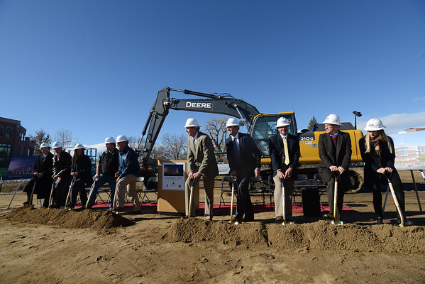 "The groundbreaking ceremony for the Roosevelt Park Apartments Tuesday morning Nov. 13, 2012. From left is Lindsey Vanderheiden, of Wells Fargo, John Hachmeister, of JHL Constructors, Kimberlee McKee, of the LDDA, Bill Sawyers, of the LDDA, Longmont mayor Dennis Coombs, developer Cotton Burden, of Burden Inc., Keith Burden, of Burden Inc., Joseph Perrotto, of Burden Inc., David Starnes, of the City of Longmont, and Aleks Kaplan, of SA+R Architects. TO VIEW A VIDEO AND SLIDESHOW VISIT  <a href=""http://WWW.TIMESCALL.COM"">http://WWW.TIMESCALL.COM</a> (Lewis Geyer/Times-Call)"