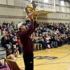 """Head football coach Mike Apodaca holds the state championship trophy during the fall sports assembly at Silver Creek High School on Friday, Jan. 4, 2013. For more photos visit  <a href=""""http://www.BoCoPreps.com"""">http://www.BoCoPreps.com</a>.  <br /> (Greg Lindstrom/Times-Call)"""