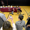 """Wesley Summers, top left, and Trey Fleming pose while Tebowing as friends snap pictures after the fall sports assembly at Silver Creek High School on Friday, Jan. 4, 2013. For more photos visit  <a href=""""http://www.BoCoPreps.com"""">http://www.BoCoPreps.com</a>.<br /> (Greg Lindstrom/Times-Call)"""