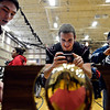 """Silver Creek's Jake Prinz, center, and John Harper, left, take pictures of the state championship trophy after the fall sports assembly at Silver Creek High School on Friday, Jan. 4, 2013. For more photos visit  <a href=""""http://www.BoCoPreps.com"""">http://www.BoCoPreps.com</a>.  <br /> (Greg Lindstrom/Times-Call)"""