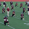 Silver Creek High School stretches before the start of the game against Centaurus High School, Friday, Sept. 7, 2012, at Everly-Montgomery Field in Longmont.<br /> (Matthew Jonas/Times-Call)