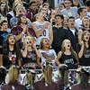 Silver Creek High School fans cheer during the game against Holy Family High School, Friday, Sept. 21, 2012, at Everly-Montgomery Field in Longmont.<br /> (Matthew Jonas/Times-Call)
