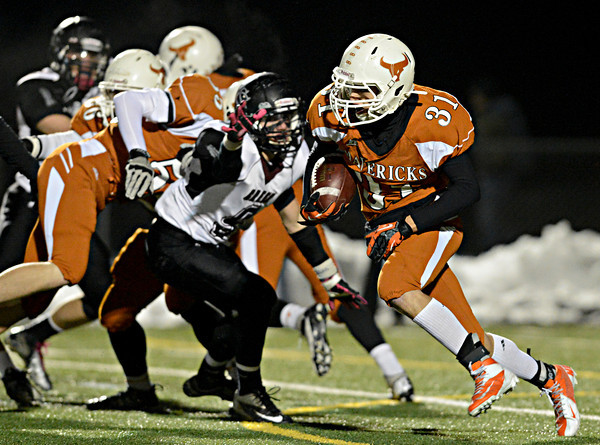 "during the game at Mead High School on Friday, Oct. 26, 2012.  For more photos and a video visit  <a href=""http://www.BoCoPreps.com"">http://www.BoCoPreps.com</a>.<br /> (Greg Lindstrom/Times-Call)"
