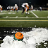 "A water bottle is chilled in a pile of snow during the game at Mead High School on Friday, Oct. 26, 2012.  Silver Creek beat Mead 35-6.  For more photos visit  <a href=""http://www.BoCoPreps.com"">http://www.BoCoPreps.com</a>.<br /> (Greg Lindstrom/Times-Call)"