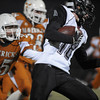 "Silver Creek's Eric Machmuller (18) runs past Mead's Nick Staiano (25) during the game Friday, Oct. 26, 2012, at Mead High School.  Silver Creek beat Mead 35-6.  For more photos visit  <a href=""http://www.BoCoPreps.com"">http://www.BoCoPreps.com</a>.<br /> (Elaine Cromie/For the Times-Call)"