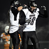 "Silver Creek's Eric Machmuller (18) and Zane Lindsey celebrate after Lindsey's touchdown during the game at Mead High School on Friday, Oct. 26, 2012.  Silver Creek beat Mead 35-6.  For more photos visit  <a href=""http://www.BoCoPreps.com"">http://www.BoCoPreps.com</a>.<br /> (Greg Lindstrom/Times-Call)"