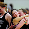 "Silver Creek's Julie Dauer, left, Carrie Ramirez, center, and Shelby Keil react after the game at D'Evelyn High School on Saturday, March 2, 2013. Silver Creek lost to D'Evelyn 70-51. For more photos visit  <a href=""http://www.BoCoPreps.com"">http://www.BoCoPreps.com</a>.<br /> (Greg Lindstrom/Times-Call)"