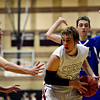 """Silver Creek's Brock Johnson is pressured by Longmont's Eli Sullivan, left, and Justinian Jessup during the game at Silver Creek High School on Tuesday, Jan. 29, 2013. Longmont beat Silver Creek 65-34. For more photos visit  <a href=""""http://www.BoCoPreps.com"""">http://www.BoCoPreps.com</a>.<br /> (Greg Lindstrom/Times-Call)"""