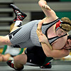 "Niwot's Mitchell Allen, right, brings down Silver Creek's Andy Nott during the dual meet at Niwot High School on Wednesday, Jan. 23, 2013. For more photos visit  <a href=""http://www.BoCoPreps.com"">http://www.BoCoPreps.com</a>. <br /> (Greg Lindstrom/Times-Call)"