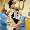 "Silver Creek's Emilie Rembert (5) goes up for a shot during the game at D'Evelyn High School on Friday, March 1, 2013. Silver Creek beat Valor Christian 65-48. For more photos visit  <a href=""http://www.BoCoPreps.com"">http://www.BoCoPreps.com</a>.<br /> (Greg Lindstrom/Times-Call)"