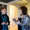 Home buyer Barbara McCormick talks with with Wright Kingdom Real Estate agent Dene Yarwood, Wednesday, Jan. 9, 2013, at a home in Longmont.<br /> (Matthew Jonas/Times-Call)