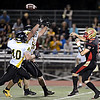 "Skyline quarterback Garret Angstead throws under pressure during the first half.  Thompson Valley beat Skyline 34-14 during the varsity football game at Everly-Montgomery Field on Thursday, Sept. 6, 2012.  For more photos visit  <a href=""http://www.TimesCall.com"">http://www.TimesCall.com</a>.<br /> (Greg Lindstrom/Times-Call)"