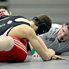 """Niwot's Jessie Slepicka tries to pin Skyline's Justis Evans during the match at Niwot High School on Wednesday, Jan. 9, 2013. For more photos visit  <a href=""""http://www.BoCoPreps.com"""">http://www.BoCoPreps.com</a>.<br /> (Greg Lindstrom/Times-Call)"""