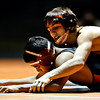 "Mead's Sage Budd, right, competes against Skyline's Ruben Rivera during the dual meet at Mead High School on Wednesday, Jan. 24, 2013. For more photos visit  <a href=""http://www.BoCoPreps.com"">http://www.BoCoPreps.com</a>.<br /> (Greg Lindstrom/Times-Call)"