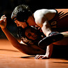 "Mead's Michael Burnett, top, competes against Skyline's Jesus Contreras during the dual meet at Mead High School on Wednesday, Jan. 24, 2013. For more photos visit  <a href=""http://www.BoCoPreps.com"">http://www.BoCoPreps.com</a>.<br /> (Greg Lindstrom/Times-Call)"