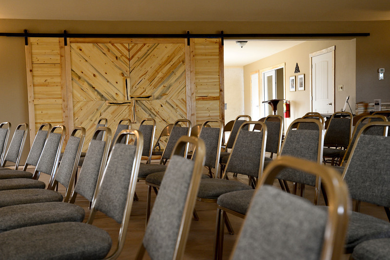 The large rolling door that separates the sanctuary from the entry way is seen, Monday, Jan. 28, 2013, at St. Brigit Episcopal Church in Frederick.<br /> (Matthew Jonas/Times-Call)