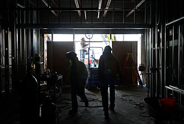 Construction continues at Thunder Valley K-8 School in Frederick on Thursday, Dec. 27, 2012.<br /> (Greg Lindstrom/Times-Call)