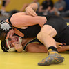 Erie's Brandon Wetsch gets on top of Frederick's Cody Campos in their 132 pound match during the Tri Valley League wrestling tournament Saturday Feb. 02, 2013 at Frederick High School. (Lewis Geyer/Times-Call)