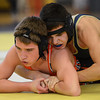Frederick's Isaac Chavez controls Erie's Christian Vanlandingham in their 126 pound match during the Tri Valley League wrestling tournament Saturday Feb. 02, 2013 at Frederick High School. (Lewis Geyer/Times-Call)