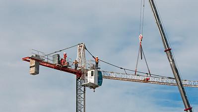 Construction crane removal. Update ed304. Gosford. April 9, 2019.