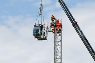 Construction crane removal. Update ed316. Gosford. April 9, 2019.