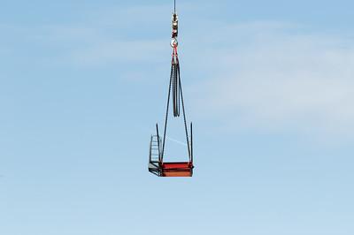 Construction crane removal. Update ed312. Gosford. April 9, 2019.