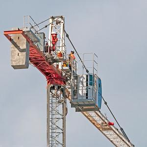 Construction crane removal. Update ed301. Gosford. April 9, 2019.