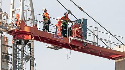 Construction crane removal. Update ed303. Gosford. April 9, 2019.