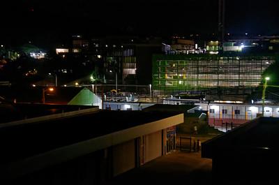 Gosford Hospital construction under nightime lighting December 31, 2018.  (h81ed)
