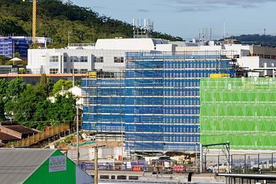 Gosford Hospital building progress December 6, 2018.  (h74ed)