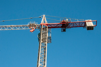 Erecting a Tower Crane. #41. of a 33+ Shot Photo series.