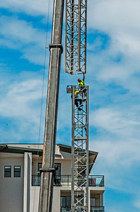 Erecting a Tower Crane. #17. of a 33+ Shot Photo series.
