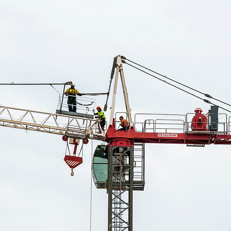 Erecting a Tower Crane.#33. of a 33+ Shot Photo series.