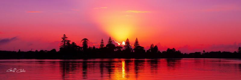 Magenta Sunrise over Water ...... in sunrise gallery.