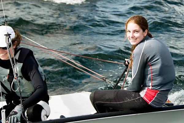 High School Children Sailing Racing.
