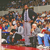1516 B RUSSELL, BILL COACH SACRAMENTO KINGS with WIllis Reed, stafff